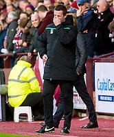 27/12/15 LADBROKES PREMIERSHIP<br /> HEARTS v CELTIC<br /> TYNECASTLE - EDINBURGH <br /> Dejection for Celtic Manager Ronny Deila