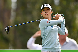 January 19, 2019 - Lake Buena Vista, FL, U.S. - LAKE BUENA VISTA, FL - JANUARY 19: Lydia Ko of New Zealand tees of on hole 2 during the third round of the Diamond Resorts Tournament of Champions on January 19, 2019, at Tranquilo Golf Course at Fours Seasons Orlando in Lake Buena Vista, FL. (Photo by Roy K. Miller/Icon Sportswire) (Credit Image: © Roy K. Miller/Icon SMI via ZUMA Press)
