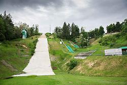 Ski jumping hill in Velenje on May 23, 2014 in Velenje, Slovenia. Photo By Vid Ponikvar / Sportida