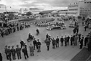 President John F. Kennedy and cavalcade leaving Dublin Airport.<br /> 26.06.1963