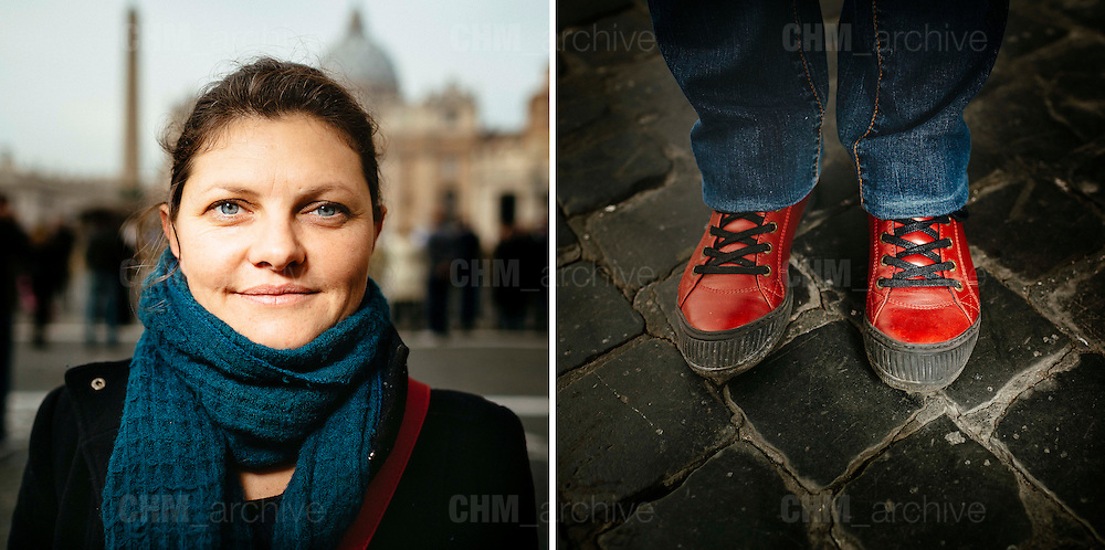 Cecile. 40 years old. Toulouse, France. <br /> Rome 16 December 2015. Christian Mantuano / OneShot