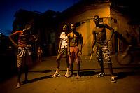 teen cuban portrait under streelights in havana