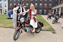 Philip Colbert and Meredith Ostrom at the Concours d'éléphant in aid of Elephant Family held at the Royal Hospital Chelsea, London, England. 28 June 2018.
