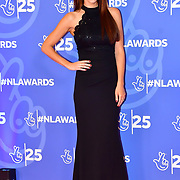Una Healy attends BBC1's National Lottery Awards 2019 at BBC Television Centre, 101 Wood Lane, on 15 October 2019, London, UK.
