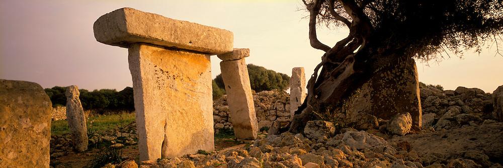 SPAIN, BALEARIC ISLANDS Menorca; Taula at Talati de Dalt
