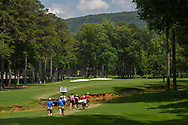 Olivia Mahaffey (a)(NIR), Catriona Matthew (SCT), and Peiyun Chien (TAI) head down 2 during round 1 of the U.S. Women's Open Championship, Shoal Creek Country Club, at Birmingham, Alabama, USA. 5/31/2018.<br /> Picture: Golffile | Ken Murray<br /> <br /> All photo usage must carry mandatory copyright credit (© Golffile | Ken Murray)