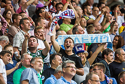 Fans of Slovenia during the EURO 2016 Qualifier Group E match between Slovenia and England at SRC Stozice on June 14, 2015 in Ljubljana, Slovenia. Photo by Grega Valancic