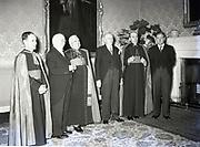 Alibrandi Right Reverent Monsignor Seatano, Albert Levame, Credentials been presented, Naunciture, 10-8-1956 Sean T O'Kelly Áras an Uachtaráin<br /> Liam Cosgrave
