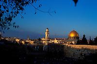 Israel - Jerusalem - Dôme du Rocher et mur des lamentations