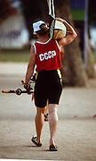 Barcelona,  SPAIN, [CCCP]  RUS W2X 1992 Olympic Regatta. Lake Banyoles, Nr Barcelona SPAIN, {Mandatory Credit: © Peter Spurrier/Intersport Images]