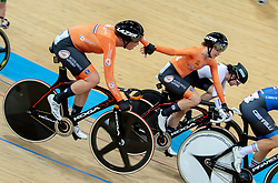 January 26, 2019 - Hong Kong, Hong Kong SAR, China - The team from the Netherlands won the Women's Madison 20km race.UCI Track Cycling World Cup Hong Kong 2019, Qualifiers Leg VI at the Hong Kong Velodrome in Tseung Kwan O ,Kowloon (Credit Image: © Jayne Russell/ZUMA Wire)