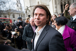 February 5, 2018 - London, UK - Alleged computer hacker Lauri Love leaves the High Court after successfully challenged a ruling that he can be extradited to the US. (Credit Image: © Tom Nicholson/London News Pictures via ZUMA Wire)