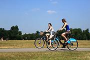"Girls riding on ""Bozza"" Bikes in London's Hyde Park"
