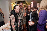 CIRO ORSINI; SONIQUE; RITA CERNIANSKAITE; , Book launch party for the paperback of Nicky Haslam's book 'Sheer Opulence', at The Westbury Hotel. London. 21 April 2010