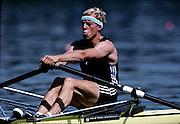Barcelona Olympics 1992 - Lake Banyoles, SPAIN, NZL M1X, VERDONK Eric Franciscus, Photo: Peter Spurrier.       {Mandatory Credit: © Peter Spurrier/Intersport Images]