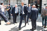 Real Madrid's Danilo Luiz Da Silva leaves Seat of Government in Madrid, May 22, 2017. Spain.<br /> (ALTERPHOTOS/BorjaB.Hojas)