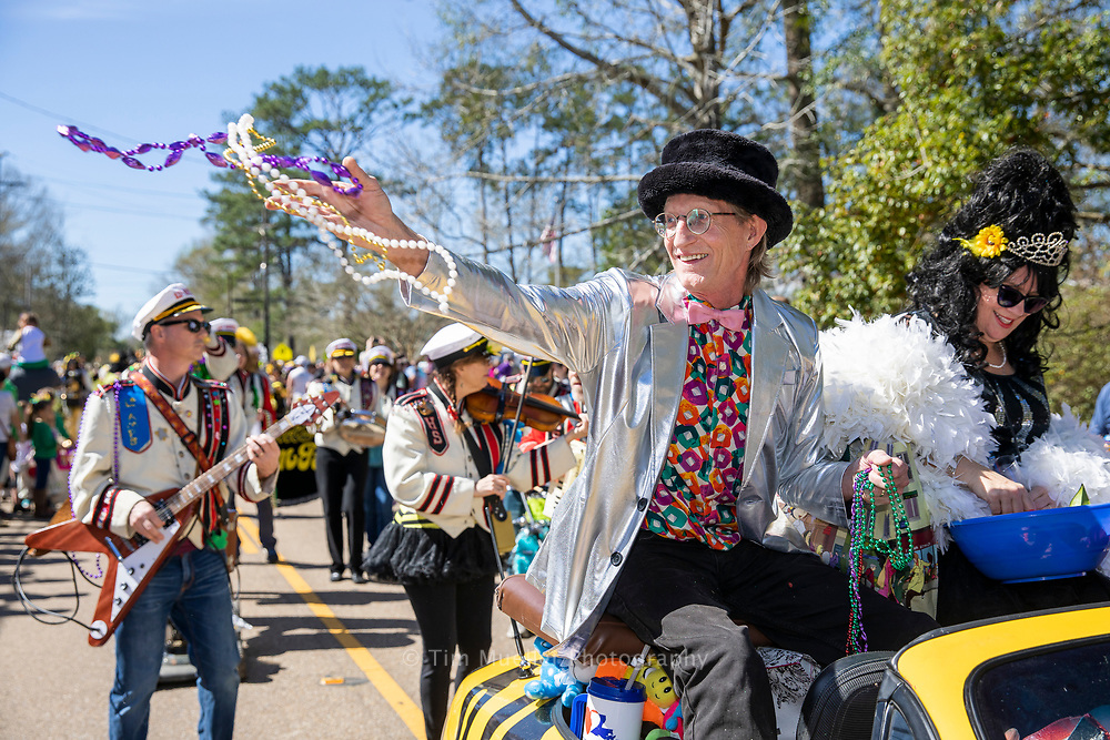 The 2019 King and Queen of the Krewe of Push Mow Mardi Gras parade is Abita Springs Citizens of the Year David Kelsey and Michelle Kelsey.
