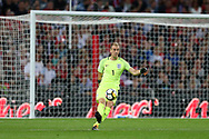 Joe Hart, the goalkeeper of England in action. FIFA World cup qualifying match, European group F, England v Slovakia at Wembley Stadium in London on Monday 4th September 2017.<br /> pic by Andrew Orchard, Andrew Orchard sports photography.
