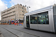 Israel, Jerusalem The newly constructed Light Train rapid urban transport system