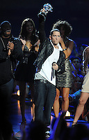 New York, NY-September 13, 2009: Eminem performs during the MTV Video Music Awards at Radio City Music Hall on September 13, 2009 in New York City (Photo by Jeff Snyder/PictureGroup)