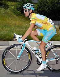 07.07.2011, AUT, 63. OESTERREICH RUNDFAHRT, 5. ETAPPE, ST. JOHANN-SCHLADMING, im Bild der Mann in Gelb Fredrik Kessiakoff, (SWE, Pro Team Astana) // during the 63rd Tour of Austria, Stage 5, 2011/07/07, EXPA Pictures © 2011, PhotoCredit: EXPA/ S. Zangrando