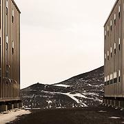 Berthing dorms looking toward Hut Point