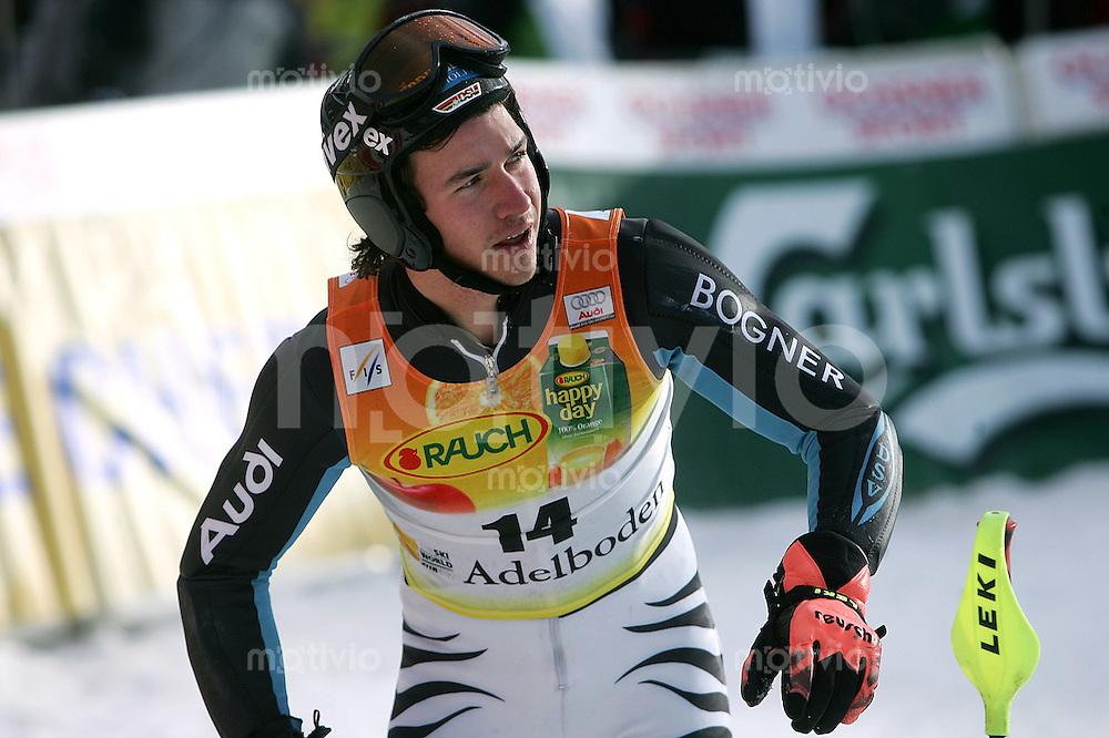Ski Alpin; Saison 2006/2007  41. Weltcup Slalom Herren Felix Neureuther (GER) enttaeuscht ueber seinen 2. Lauf und dem 18. Platz