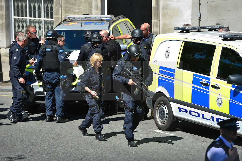 © Licensed to London News Pictures. 30/06/2015. London, UK. Members of the emergency service take part in a mocked-up terrorist firearms attack at Aldwych station in central London. The exercise is the biggest to take place in London and is happening a week after dozens of people where killed when a gunman opened fire on a beach in Tunisia.  Photo credit: Ben Cawthra/LNP