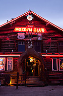 Route 66, Flagstaff, Museum Club, neon, twilight, dance hall, country music, Arizona, AZ