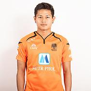 THAILAND - JUNE 24: Montree Promsawat #14 of Ratchaburi Mitr Phol FC on June 24, 2019.<br /> .<br /> .<br /> .<br /> (Photo by: Naratip Golf Srisupab/SEALs Sports Images/MB Media Solutions)
