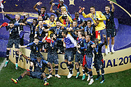 France posing with the World Cup after the 2018 FIFA World Cup Russia, final football match between France and Croatia on July 15, 2018 at Luzhniki Stadium in Moscow, Russia - Photo Stanley Gontha / Proshots / ProSportsImages / DPPI
