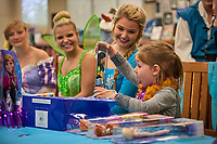 Ravenwood High School hosted a Make A Wish event Friday, April 5 to grant the wish of going to Disney World to Addy Fernlund who turns five on April 10, 2019. The students raised $19,000 to grant the wish this year, the tenth year they have granted a wish. Photo Harrison McClary/News & Observer