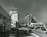1938 Looking north on Vine St. towards Selma Ave.