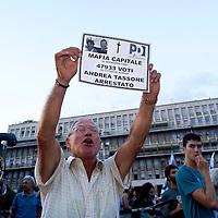 Manifestazione contro la mafia a Roma