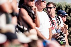 Photographer, Damjan Zibert during a tennis match against the Boy Westerhof (NED) in 1st round of singles at 24 ATP Vegeta Croatia Umag 2013, on July 23, 2013, in Umag, Croatia. (Photo by Urban Urbanc / Sportida)