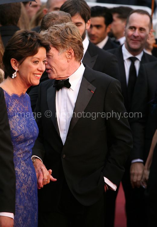 Robert Redford and Sibylle Szaggars at the All Is Lost film gala screening at the Cannes Film Festival Wednesday 22nd May 2013