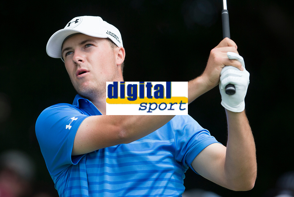 Jordan Spieth of the USA in action during his fourth round at the Emirates Australian Open Golf at the Emirates Australian Open Golf during his second round at the Emirates Australian Open Golf, at The Australian Open Golf in Sydney, Australia, on Novembre 230, 2014. Photo Mike Frey / Backpage Images / DPPI