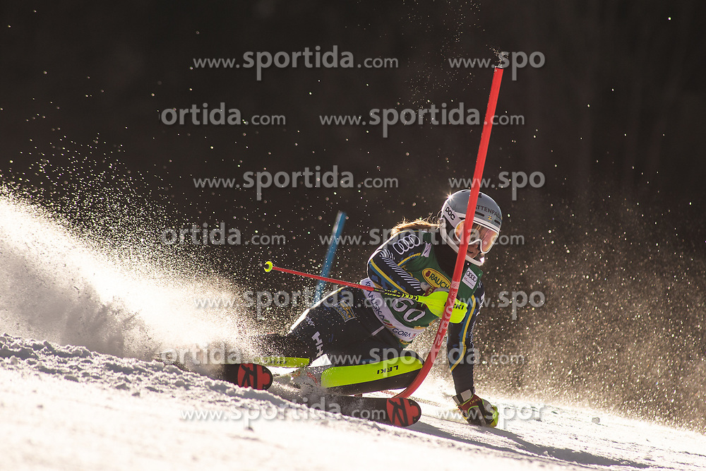 Hanna Aronsson Elfman (SWE) during the Ladies' Slalom at 56th Golden Fox event at Audi FIS Ski World Cup 2019/20, on February 16, 2020 in Podkoren, Kranjska Gora, Slovenia. Photo by Matic Ritonja / Sportida