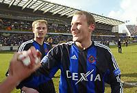 Fotball, 7. mars 2004, Brugge - Anderlecht, Rune Lange, Bugge RUNE LANGE -TIM SMOLDERS