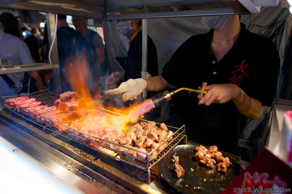 This popular Japanese style steak stall uses modern methods to produce high quality steak.