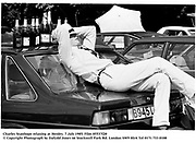 Charles Stanhope relaxing at Henley. 7 july 1985. Film 85537f20<br />© Copyright Photograph by Dafydd Jones<br />66 Stockwell Park Rd. London SW9 0DA<br />Tel 0171 733 0108
