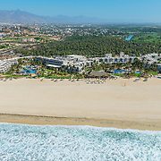 Aerial view of the Holiday Inn hotel. San Jose del cabo, Mexico.