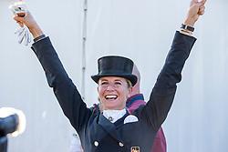 BREDOW-WERNDL Jessica von (GER)<br /> Impressionen am Rande<br /> Deutsche Meisterschaft der Dressurreiter<br /> Klaus Rheinberger Memorial<br /> Nat. Dressurprüfung Kl. S**** - Grand Prix Special<br /> Balve Optimum - Deutsche Meisterschaft Dressur 2020<br /> 19. September2020<br /> © www.sportfotos-lafrentz.de/Stefan Lafrentz