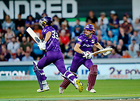 Cricket - 2021 Season - The Hundred: Men - Northern Superchargers vs Manchester Originals - Emerald Headingley, Leeds - Thursday 12th August 2021<br /> <br /> John Simpson and Dane Vilas of Northern Superchargers led their team to a record score of 200-5<br /> <br /> COLORSPORT/ALAN MARTIN