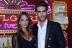 Alicia Vikander and Jon Kortajarena attending a ribbon cutting ceremony of a Bulgari pop-up store at the Galleries Lafayette department store as part of 2017/18 Fall Winter Haute Couture Fashionweek in Paris, France on July 04, 2017. Photo by Aurore Marechal/ABACAPRESS.COM