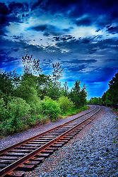 This train track is located in Duluth Minnesota. It follows the trail that runs along Lake Superior. You can rent the train for parties.