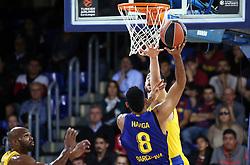 November 1, 2018 - Barcelona, Catalonia, Spain - Adam Hanga during the match between FC Barcelona and Maccabi Tel Aviv, corresponding to the week 5 of the Euroleague, played at the Palau Blaugrana, on 01 November 2018, in Barcelona, Spain. (Credit Image: © Joan Valls/NurPhoto via ZUMA Press)
