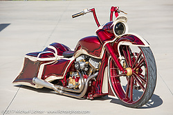 Kory Souza Originals' custom bagger at Paul Yaffe's Baddest Bagger bike show during Biketoberfest. Daytona Beach, FL, USA. Thursday October 19, 2017. Photography ©2017 Michael Lichter.