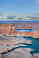 Dusk over Padre Bay and Lake Powell from Alstrom Point, Glen Canyon National Recreation Area Utah