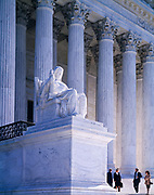 Attorneys on steps of the United States Supreme Court, Washington, District of Columbia.